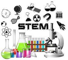 Posterontwerp voor STEM-onderwijs vector