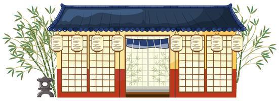 Een traditioneel Japans huis vector