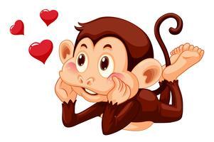 Een mooie aap op witte achtergrond vector