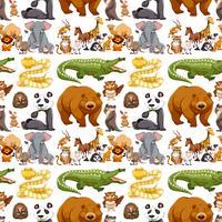 Naadloze achtergrond met wilde dieren