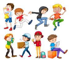 Set van tiener karakter vector