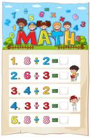 Math werkbladontwerp voor divisie vector