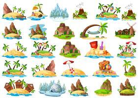 Set van verschillende eiland