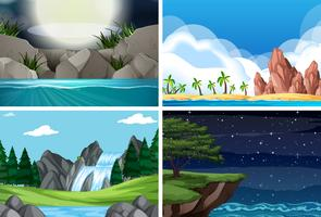 Set van verschillende scène