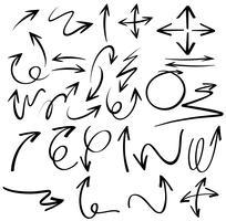 Doodles-ontwerp voor zwarte pijlen