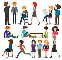Een groep zakenmensen vector