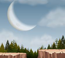 Een natuur klif landschap