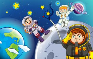 Astronauten in de buitenruimte