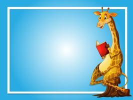 Grens sjabloon met giraffe lezen