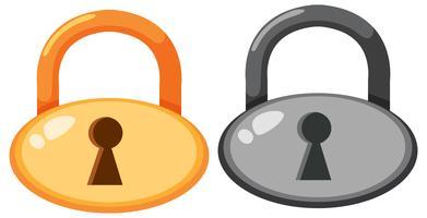 Set van lockpad-pictogram vector