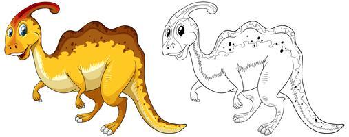 Dierlijke schets voor dinosaurus vector
