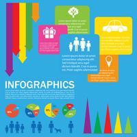 Een kleurrijk infokaartje vector