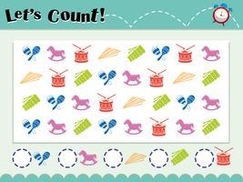 Spelsjabloon voor het tellen van objecten