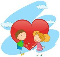 Jongen en meisje verliefd