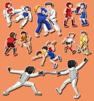 Mensen die verschillende vechtsporten doen