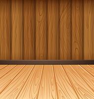 Houten muur en houten tegels