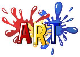 Lettertypeontwerp met woordkunst vector