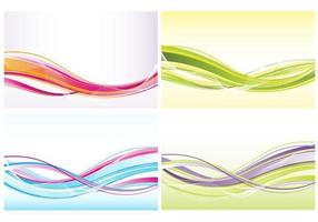 Abstracte golven achtergrond Vector Pack