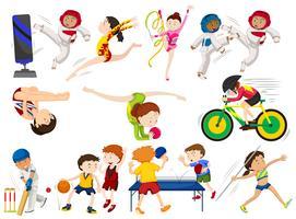 Mensen doen verschillende soorten sporten vector