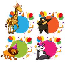 Set dierlijke viering concepten vector
