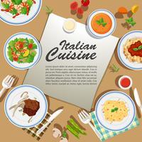 Posterontwerp met verschillende gerechten