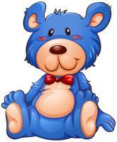 Een blauwe teddybeer vector