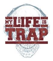 Trap Typografie vector