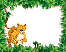 Cheetah in de natuur scène vector