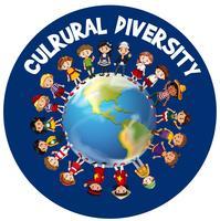 Culturele diversiteit over de hele wereld vector