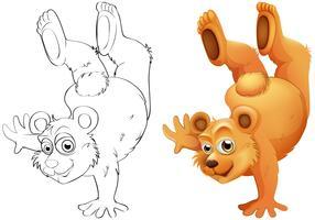 Dierlijke schets voor grizzlybeer