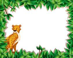 Een cheetah in aardkader vector