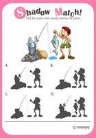Spel sjabloon met bijpassende afbeelding