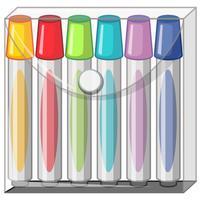 Kleurmarkeringen in plastic zak vector