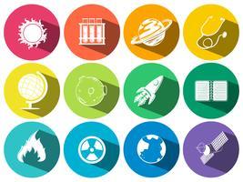 Wetenschap en technologie pictogrammen