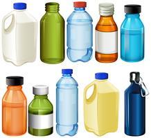 Verschillende flessen vector