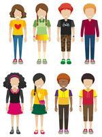 Kinderen zonder gezichten vector