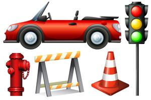 Set van verkeerselement vector