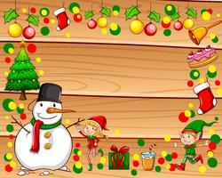 Grens met kerstthema vector