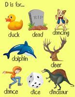 Woorden beginnen met letter D