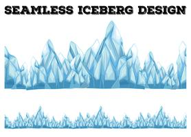Naadloos ijsbergontwerp met hoge pieken vector