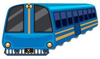 Blauwe trein op witte achtergrond