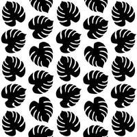 Naadloos patroon met tropische bladeren vector