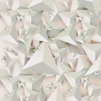 Abstracte 3D-driehoeken op lichte achtergrond, vectorillustratie vector