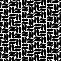 Abstract naadloos patroon met krommelijnen vector