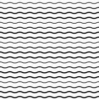 Naadloos patroon met vloeiende golflijnen vector