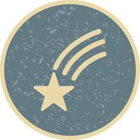 Vallende ster vector pictogram