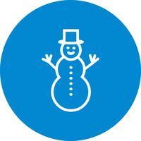 Sneeuwpop Vector Icon