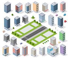 Set van stedelijk district