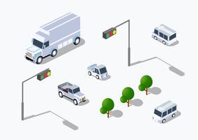 Stedelijke isometrische parking vector