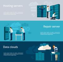 Datacenter-bannerset vector